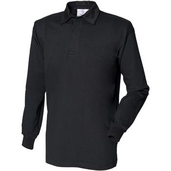 Textil Homem Polos mangas compridas Front Row FR100 Preto/preto