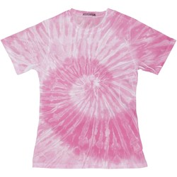 Textil Mulher T-Shirt mangas curtas Colortone TD20M Aranha Rosa