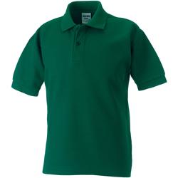 Textil Rapaz Polos mangas curta Jerzees Schoolgear 65/35 Garrafa Verde