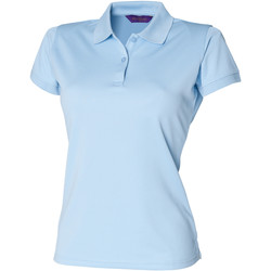Textil Mulher Polos mangas curta Henbury Coolplus Azul claro