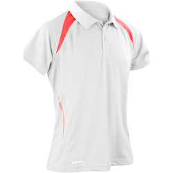 Textil Homem Polos mangas curta Spiro S177M Branco/vermelho