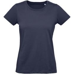 Textil Mulher T-Shirt mangas curtas B And C Inspire Marinha Urbana