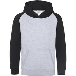Textil Criança Sweats Awdis JH09J Heather Grey/ Jet Black