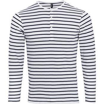 Textil Homem T-shirt mangas compridas Premier Long John Branco/Navio