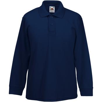 Textil Rapaz Polos mangas compridas Fruit Of The Loom 63201 Marinha Profunda