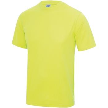 Textil Homem T-Shirt mangas curtas Awdis JC001 Amarelo elétrico