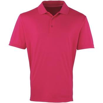 Textil Homem Polos mangas curta Premier PR615 Rosa Quente