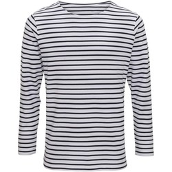 Textil Homem T-shirt mangas compridas Asquith & Fox AQ070 Branco/Navio