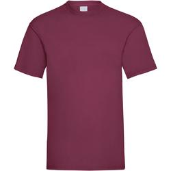 Textil Homem T-Shirt mangas curtas Universal Textiles 61036 Oxblood