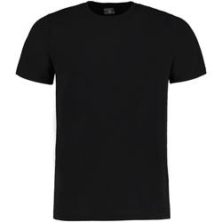 Textil Homem T-Shirt mangas curtas Kustom Kit KK504 Melange preto