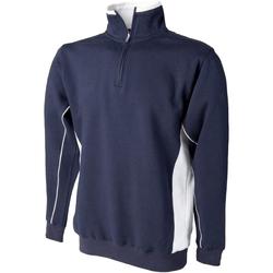 Textil Homem Sweats Finden & Hales LV338 Marinha/ Branco