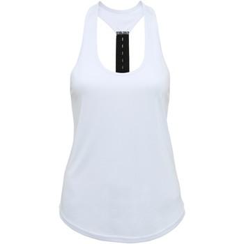 Textil Mulher Tops sem mangas Tridri TR027 Branco
