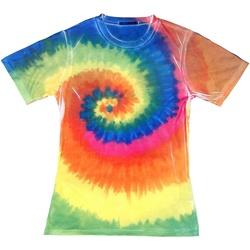 Textil Mulher T-Shirt mangas curtas Colortone TD21M Arco-íris