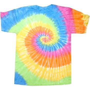 Textil Mulher T-Shirt mangas curtas Colortone Rainbow Eternidade