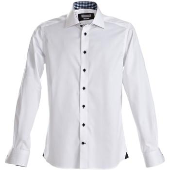 Textil Homem Camisas mangas comprida J Harvest & Frost Red Bow Branco/ Negro