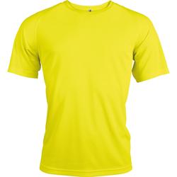 Textil Homem T-Shirt mangas curtas Kariban Proact PA438 Amarelo Fluorescente