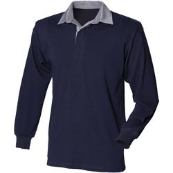 Textil Homem Polos mangas compridas Front Row Rugby Colarinho da Marinha/late