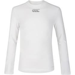 Textil Criança T-shirt mangas compridas Canterbury CN360B Branco