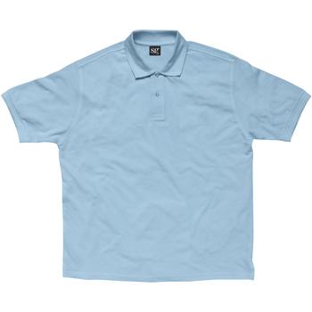 Textil Mulher Polos mangas curta Sg SG59F Azul Céu
