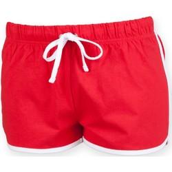 Textil Criança Shorts / Bermudas Skinni Fit SM069 Vermelho / Branco