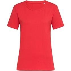Textil Mulher T-Shirt mangas curtas Stedman  Vermelho Escarlate