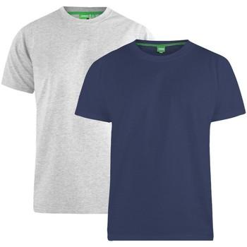 Textil Homem T-Shirt mangas curtas Duke  Marinha/Cinza