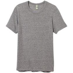 Textil Homem T-Shirt mangas curtas Alternative Apparel AT001 Cinza ecológica