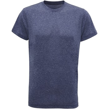 Textil Homem T-Shirt mangas curtas Tridri TR010 Melange Azul