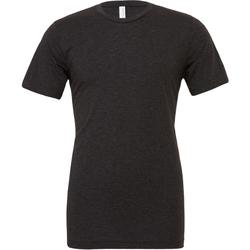 Textil Homem T-Shirt mangas curtas Bella + Canvas CA3413 Triblend Preto Carvão Vegetal