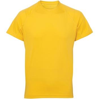 Textil Homem T-Shirt mangas curtas Tridri TR011 Sol Amarelo