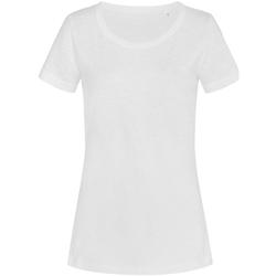 Textil Mulher T-Shirt mangas curtas Stedman Stars Sharon Branco