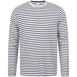Textil T-shirt mangas compridas Skinni Fit SF204 Marinha Branca/Oxford
