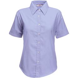 Textil Mulher camisas Fruit Of The Loom 65000 Oxford Blue