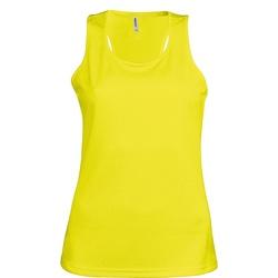 Textil Mulher Tops sem mangas Kariban Proact Proact Amarelo Fluorescente