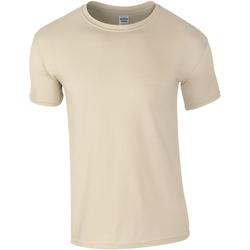 Textil Homem T-Shirt mangas curtas Gildan Soft-Style Areia