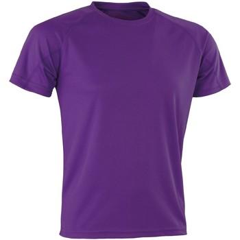 Textil T-Shirt mangas curtas Spiro Aircool Púrpura