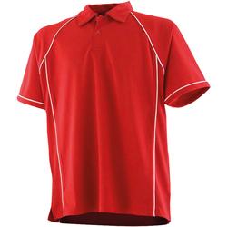 Textil Criança Polos mangas curta Finden & Hales LV372 Vermelho/branco