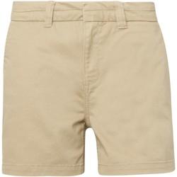 Textil Mulher Shorts / Bermudas Asquith & Fox AQ061 Khaki