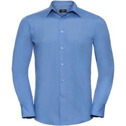 Textil Homem Camisas mangas comprida Russell 924M Azul Corporativo