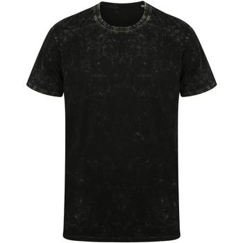 Textil T-Shirt mangas curtas Skinni Fit SF203 Preto lavado