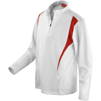 Textil Mulher Casacos fato de treino Spiro S178X Branco/Vermelho/branco