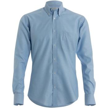 Textil Homem Camisas mangas comprida Kustom Kit KK139 Azul claro
