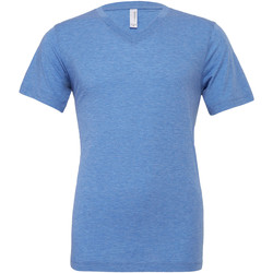 Textil Homem T-Shirt mangas curtas Bella + Canvas CA3415 Blue Triblend