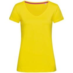 Textil Mulher T-Shirt mangas curtas Stedman Stars Megan Margarida Amarela
