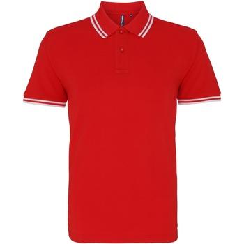 Textil Homem Polos mangas curta Asquith & Fox AQ011 Vermelho/ Branco