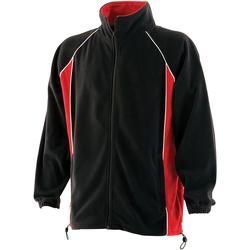 Textil Homem Casaco polar Finden & Hales LV550 Preto/Vermelho/branco