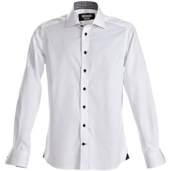 Textil Homem Camisas mangas comprida J Harvest & Frost Red Bow Branco / Marinha