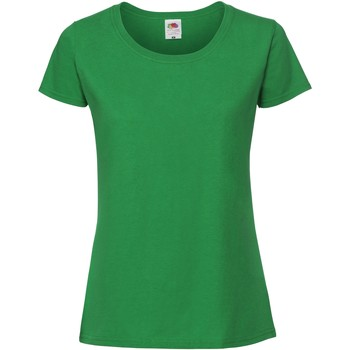 Textil Mulher T-Shirt mangas curtas Fruit Of The Loom SS424 Kelly Green