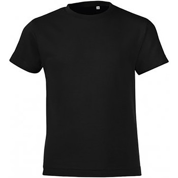 Textil Rapaz T-Shirt mangas curtas Sols 01183 Preto profundo