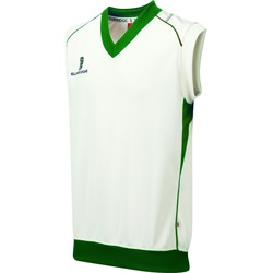 Textil Homem Tops sem mangas Surridge SU012 Branco/ Verde guarnição